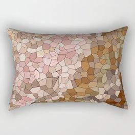 Skin Tone Mosaic Rectangular Pillow