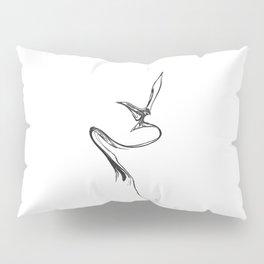 Swallow 1. Black on white background. Pillow Sham