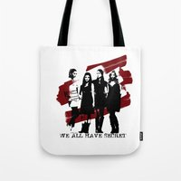 pretty little liars Tote Bags featuring Pretty Little Liars by Rose's Creation