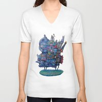 narnia V-neck T-shirts featuring Fandom Moving Castle by nokeek