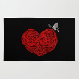 A Butterfly to be, a Rose to blossom... Rug