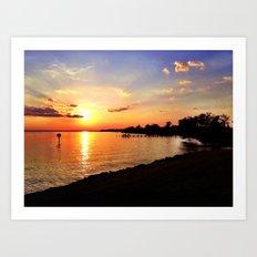 Potomac Sunset Art Print