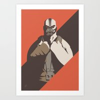 bane Art Prints featuring Bane by Florey