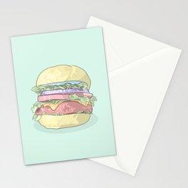 Cheeseburger - Soft Pastel Hamburger Stationery Cards