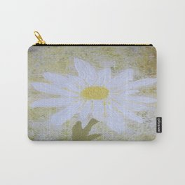 Textured Daisy Carry-All Pouch