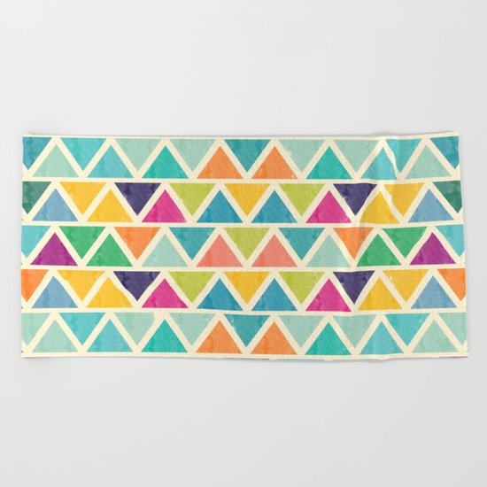 Lovely geometric Pattern II Beach Towel