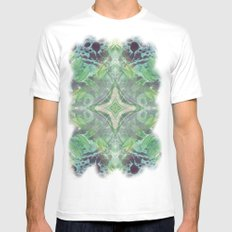 Abstract Texture Mens Fitted Tee MEDIUM White