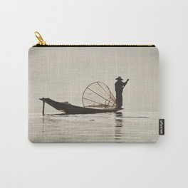 Fisherman at Inle Lake Carry-All Pouch