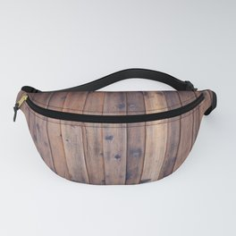 Dark Brown Wood Fanny Pack