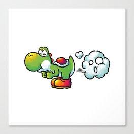 Yoshi Fart Super Canvas Print
