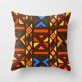 African Style No6, Sahara Desert Throw Pillow