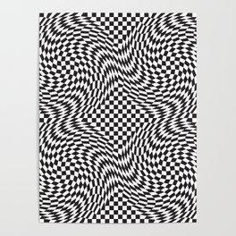 Checkered Warp Poster