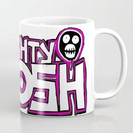 Mighty Boosh Logo, Colourful, Funky, Funny Coffee Mug