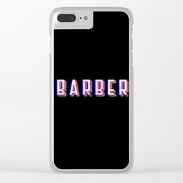 Barber Vintage Classic Barber Retro Distressed Gift Clear iPhone Case