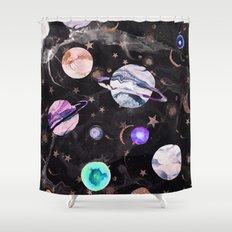 Marble Galaxy Shower Curtain