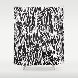 Graffiti illustration 07 Shower Curtain