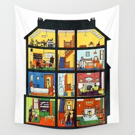 Vintage Doll House Wall Tapestry