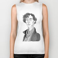 benedict cumberbatch Biker Tanks featuring Benedict Cumberbatch - Sherlock by Andy Christofi