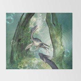 Awesome seadragon Throw Blanket