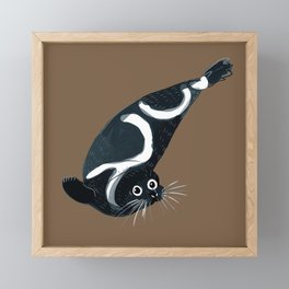 Ribbon seal Framed Mini Art Print