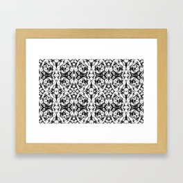 kaleidoscope black and white pattern Framed Art Print