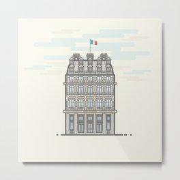 Hotel De Louvre vector illustration Metal Print