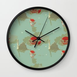Airship and the Irish Lighthouse Wall Clock