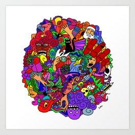 doodle works Art Print
