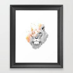 If I roar (The King Lion) Framed Art Print