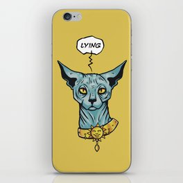 Lying cat  iPhone Skin