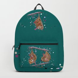 Possum Family - Teal Backpack