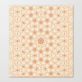 Arabesque Vines - Color: Sugar&Spice Canvas Print