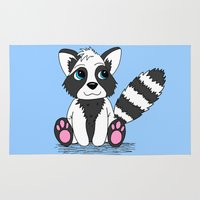 racoon Area & Throw Rugs featuring Racoon by BlackBlizzard