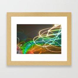 Rainbow Light Graffiti Framed Art Print