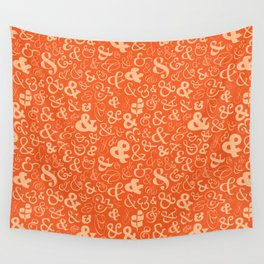 Ampersands - Orange Wall Tapestry