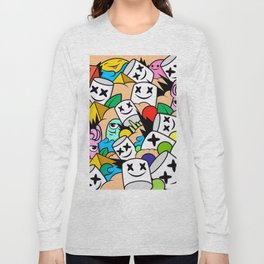 Marshmello Lots Colorful Long Sleeve T-shirt