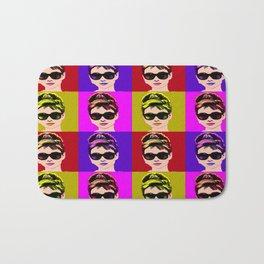 Audrey Hepburn Pop Art Bath Mat