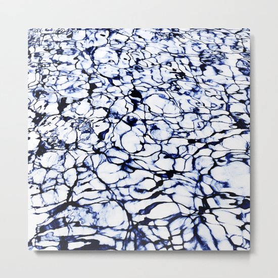 Dye Painted Waters #society6 #decor #buyart Metal Print