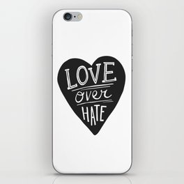Love over Hate iPhone Skin