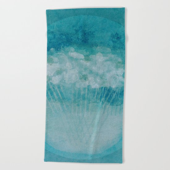 Flowers in Thought Beach Towel