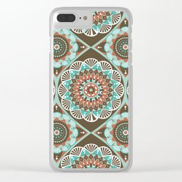 Toned Variety Pattern Clear iPhone Case