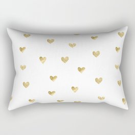 Gold Heart Rectangular Pillow