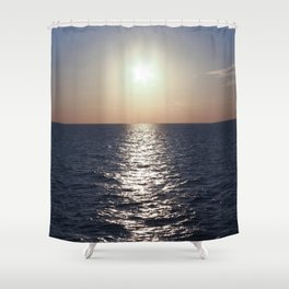 Sunset, Santorini Shower Curtain