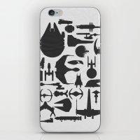 sci fi iPhone & iPod Skins featuring Famous Sci Fi Ships by Ewan Arnolda