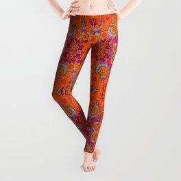 Boho Hippie Garden Pattern Leggings