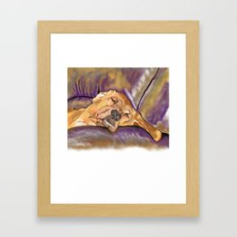 That's Quite a Dawg Framed Art Print