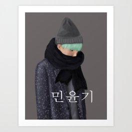 BTS SUGA - Min Yoongi Art Print