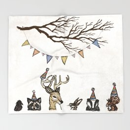 Party Animals Throw Blanket