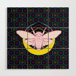 Geometric Cicada Wood Wall Art
