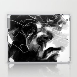 Portrait of Man Black and White Laptop & iPad Skin